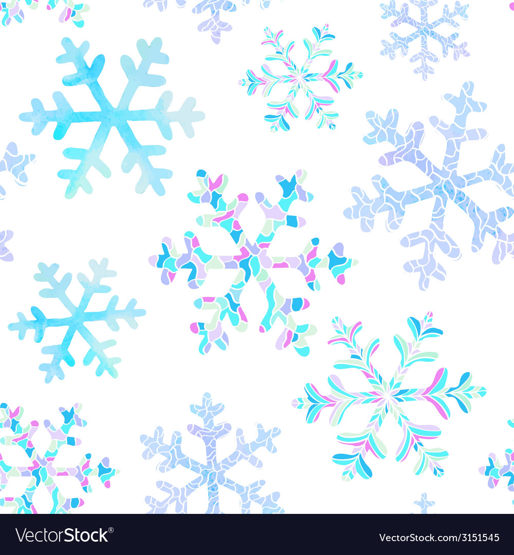 Seamless pattern with falling snowflakes vector | Price: 1 Credit (USD $1)