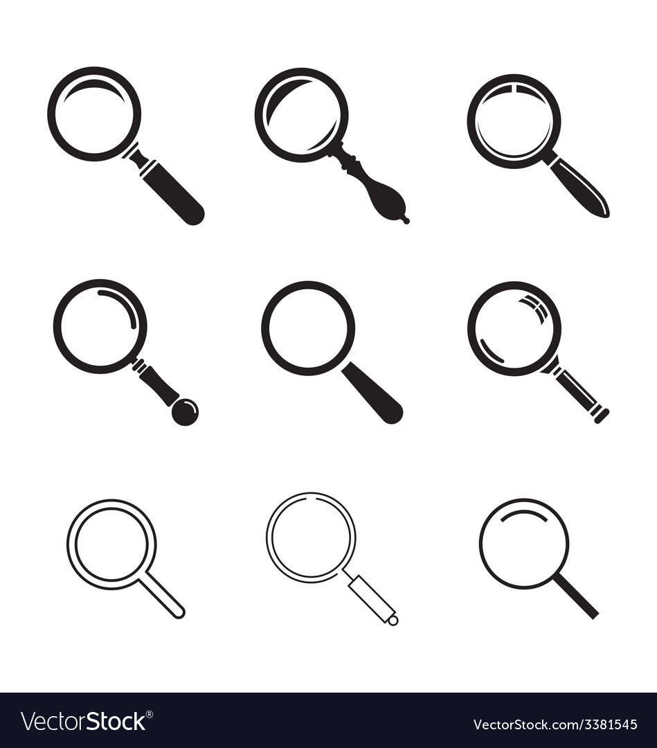 Search icons vector | Price: 1 Credit (USD $1)
