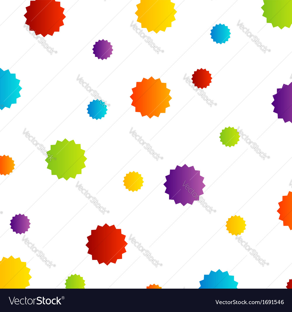 Background with colorful stars vector | Price: 1 Credit (USD $1)