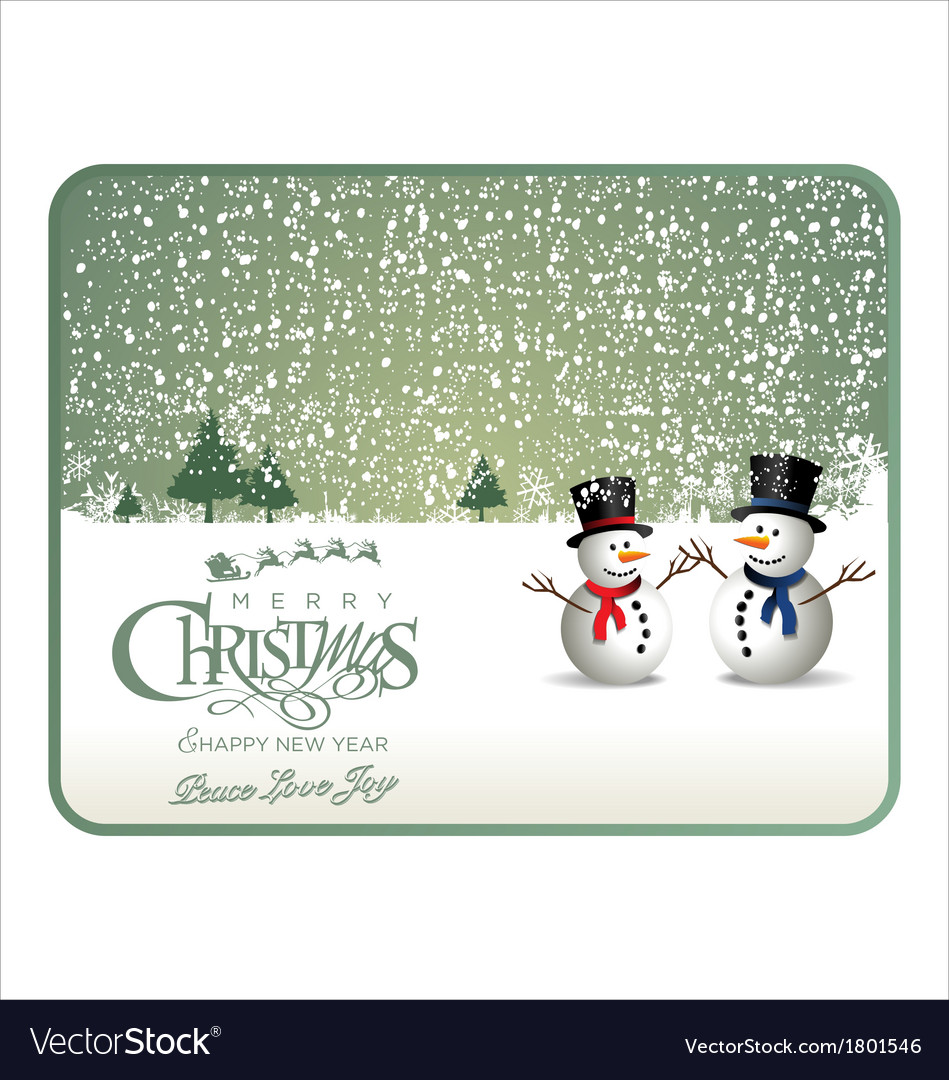 Christmas green card vector | Price: 1 Credit (USD $1)