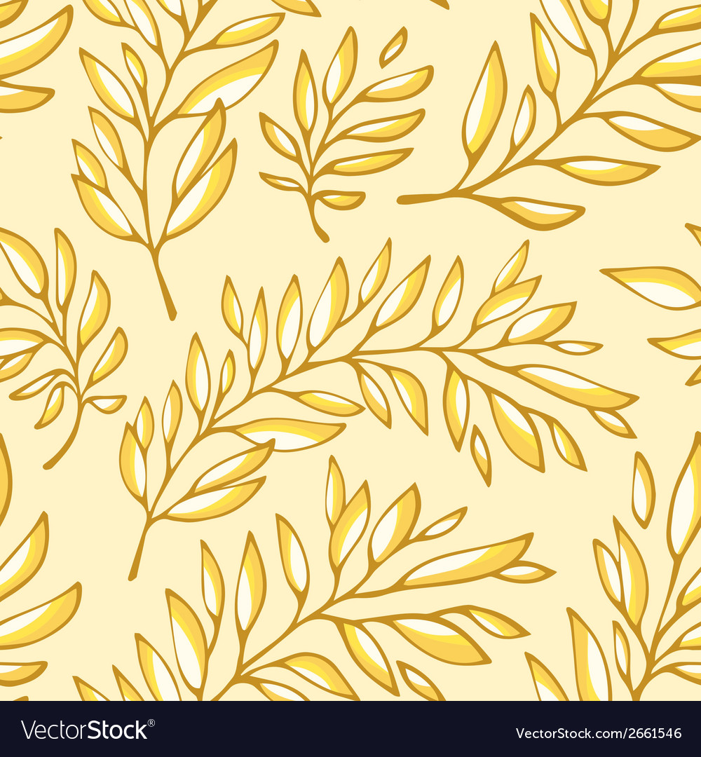 Floral seamless pattern with branches vector | Price: 1 Credit (USD $1)