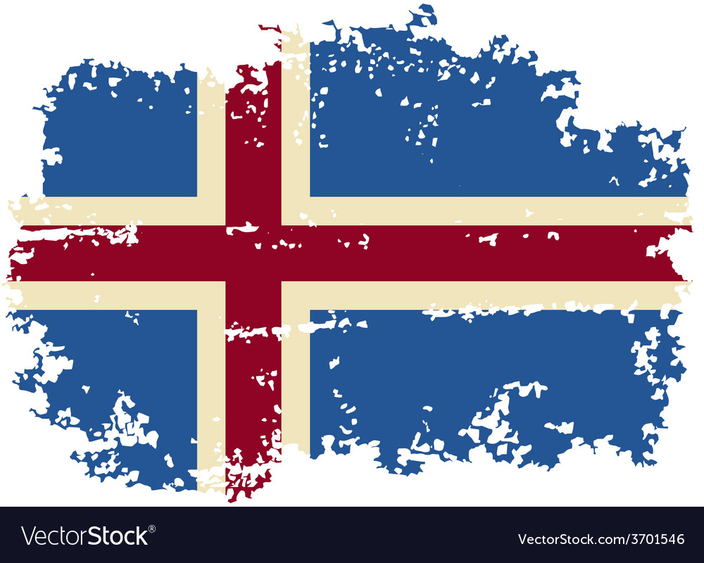 Icelandic grunge flag vector | Price: 1 Credit (USD $1)