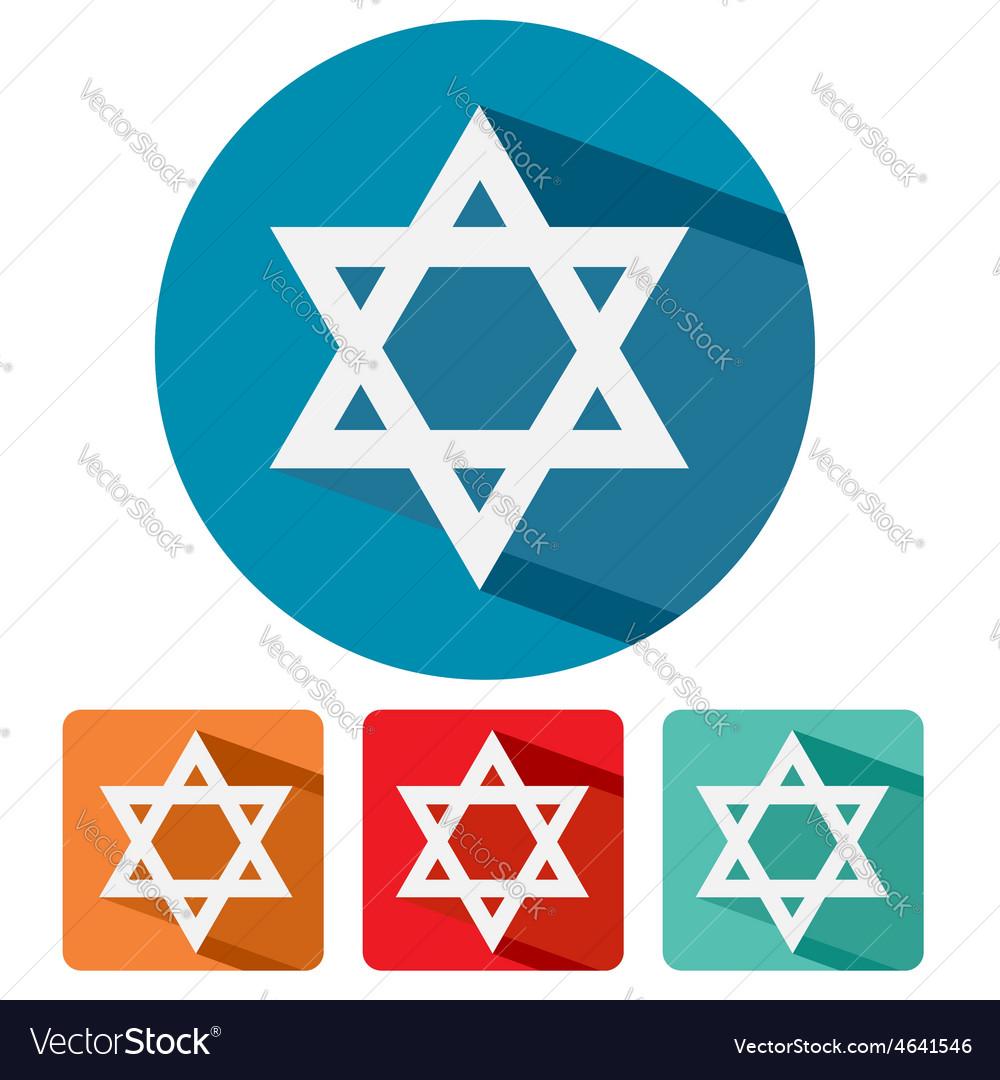 Judaism star of david flat icon design vector | Price: 1 Credit (USD $1)