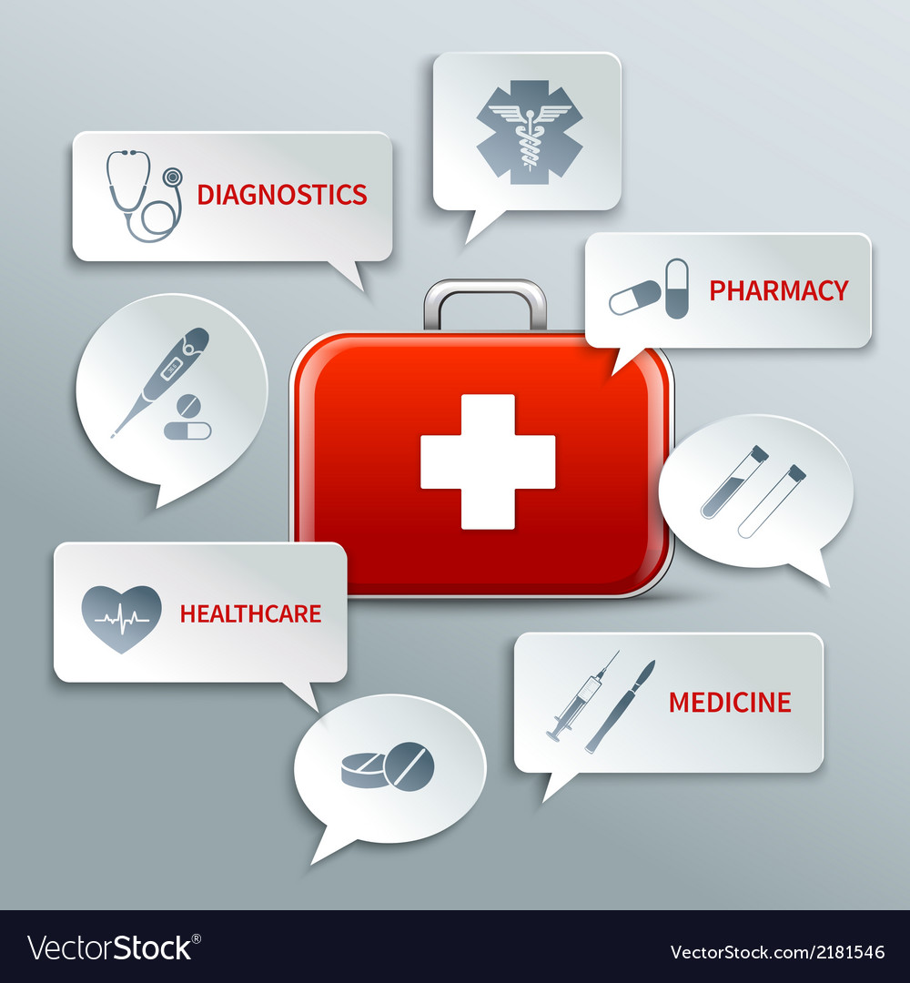 Medical paper bubbles vector | Price: 1 Credit (USD $1)