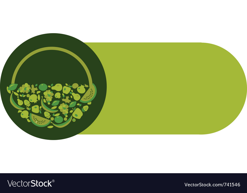 Organic food label in green colors vector | Price: 1 Credit (USD $1)