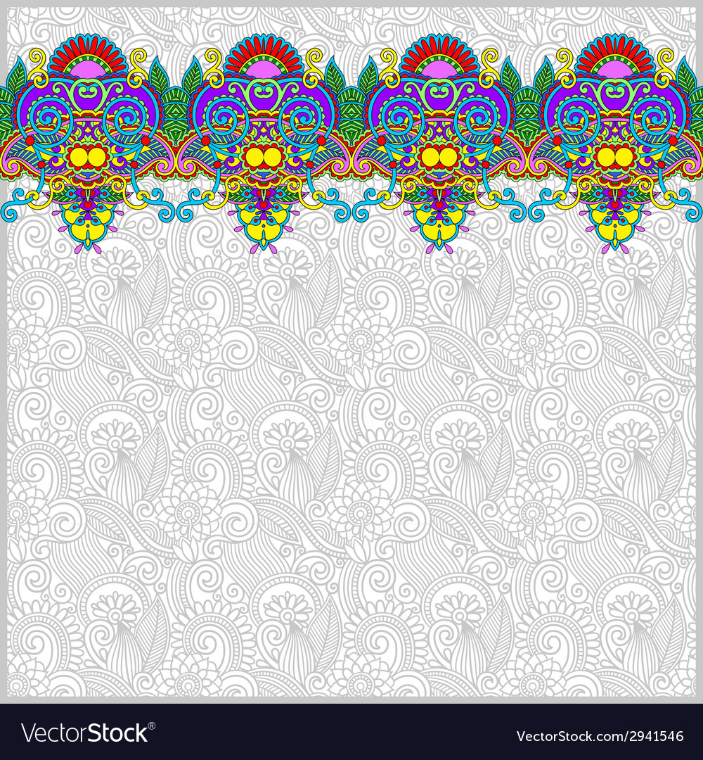 Ornamental background with flower ribbon vector | Price: 1 Credit (USD $1)