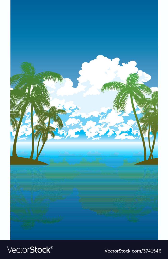 Palms 01 vector | Price: 1 Credit (USD $1)