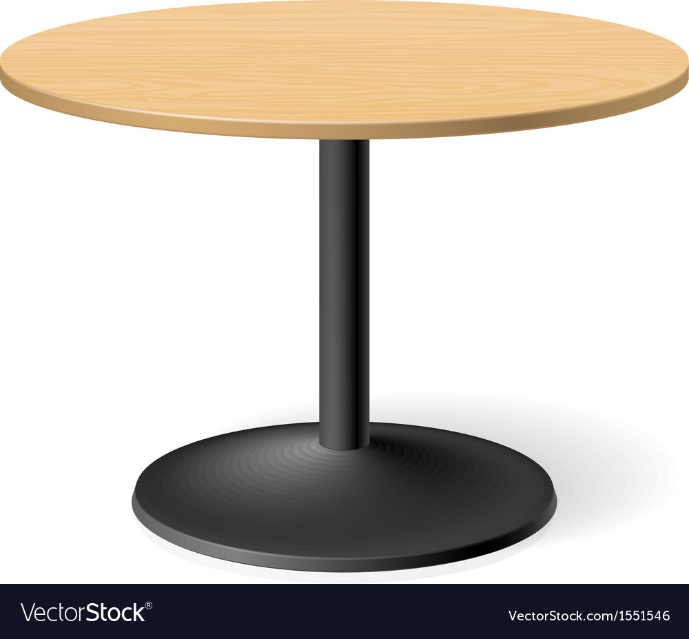 Round table vector | Price: 1 Credit (USD $1)