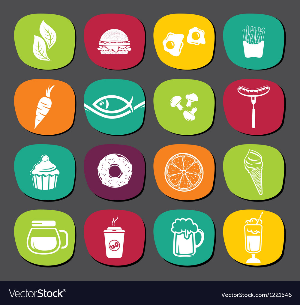 Set of food labels vector | Price: 1 Credit (USD $1)