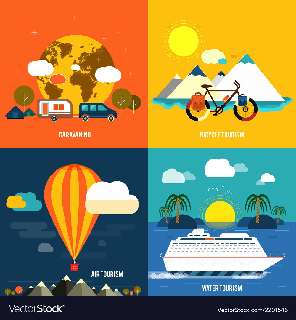 Traveling and planning a summer vacation vector | Price: 1 Credit (USD $1)