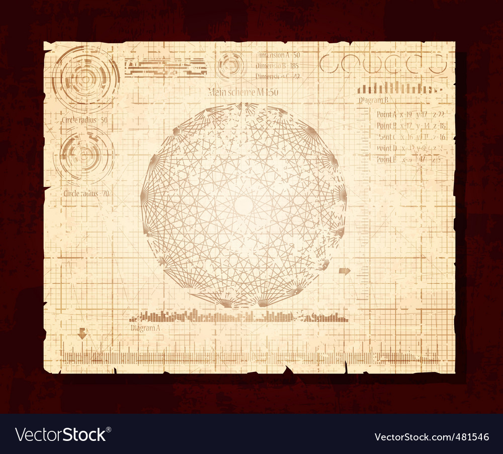 Vintage drawing vector | Price: 3 Credit (USD $3)