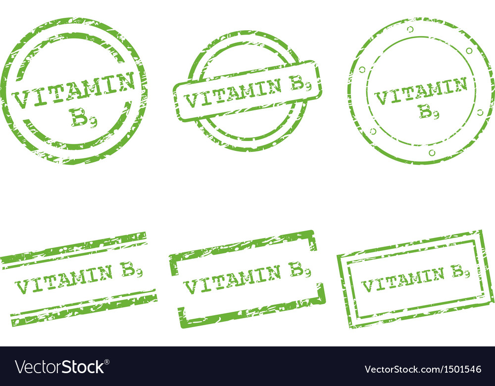 Vitamin b9 stamps vector | Price: 1 Credit (USD $1)