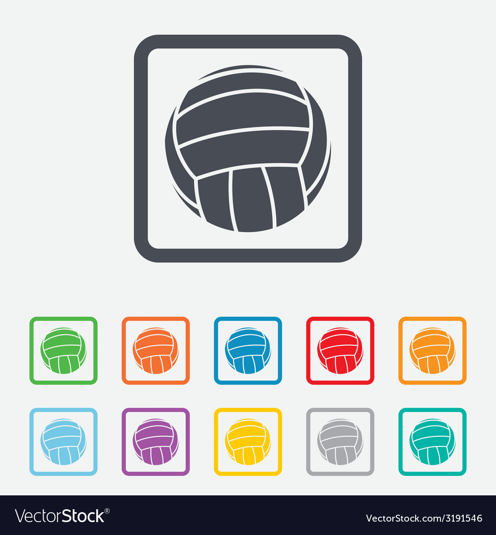 Volleyball sign icon beach sport symbol vector | Price: 1 Credit (USD $1)