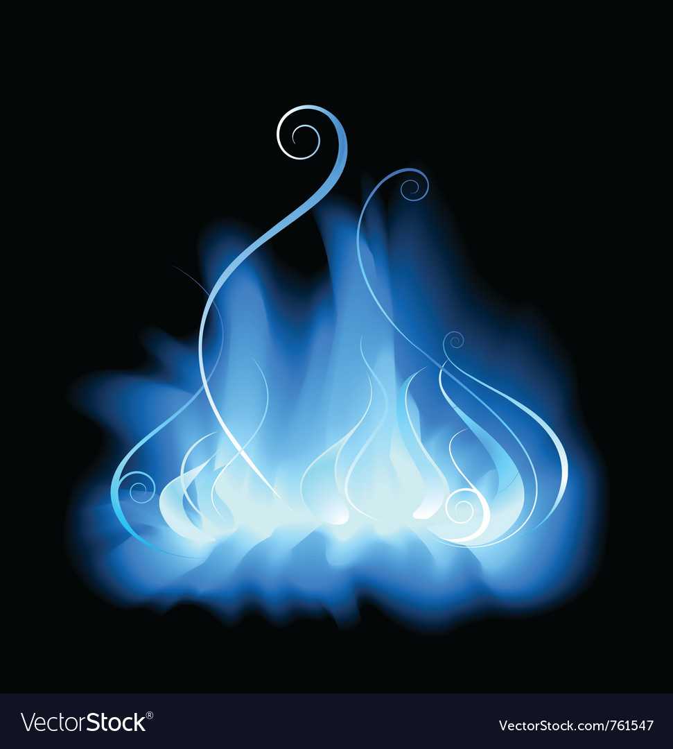 Blue gas flame vector | Price: 1 Credit (USD $1)
