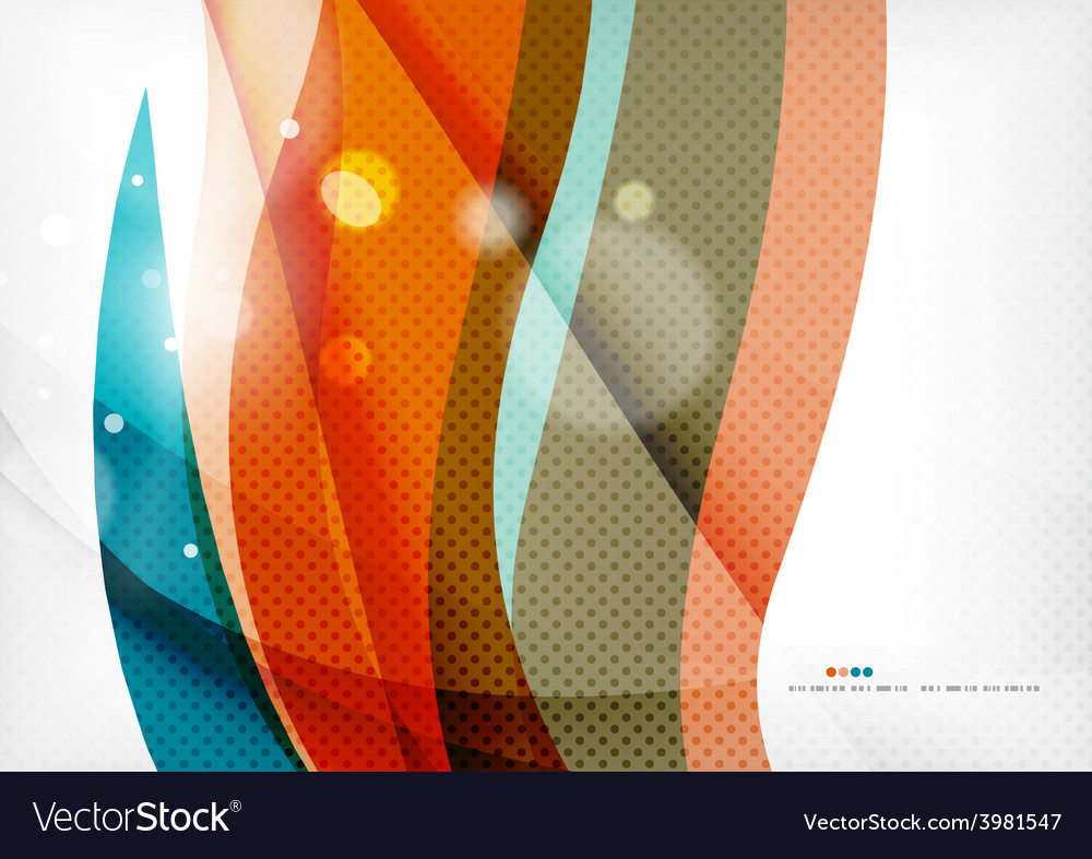 Blue orange line concept vector | Price: 1 Credit (USD $1)