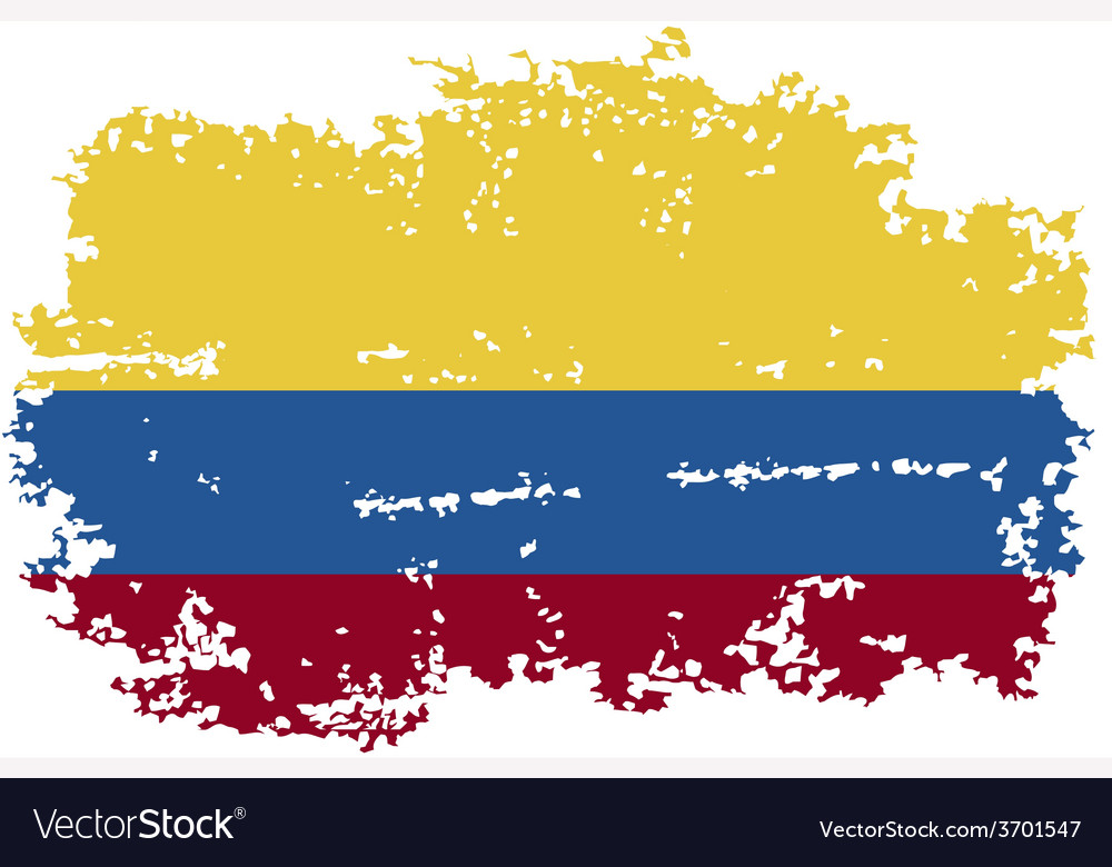 Colombia grunge flag vector | Price: 1 Credit (USD $1)