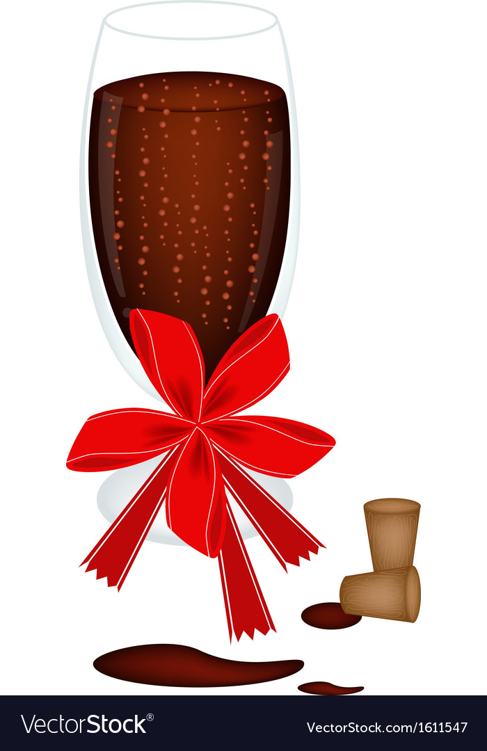 Delicious red wine with bow and ribbon vector | Price: 1 Credit (USD $1)