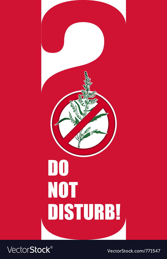 Do not disturb vector | Price: 1 Credit (USD $1)