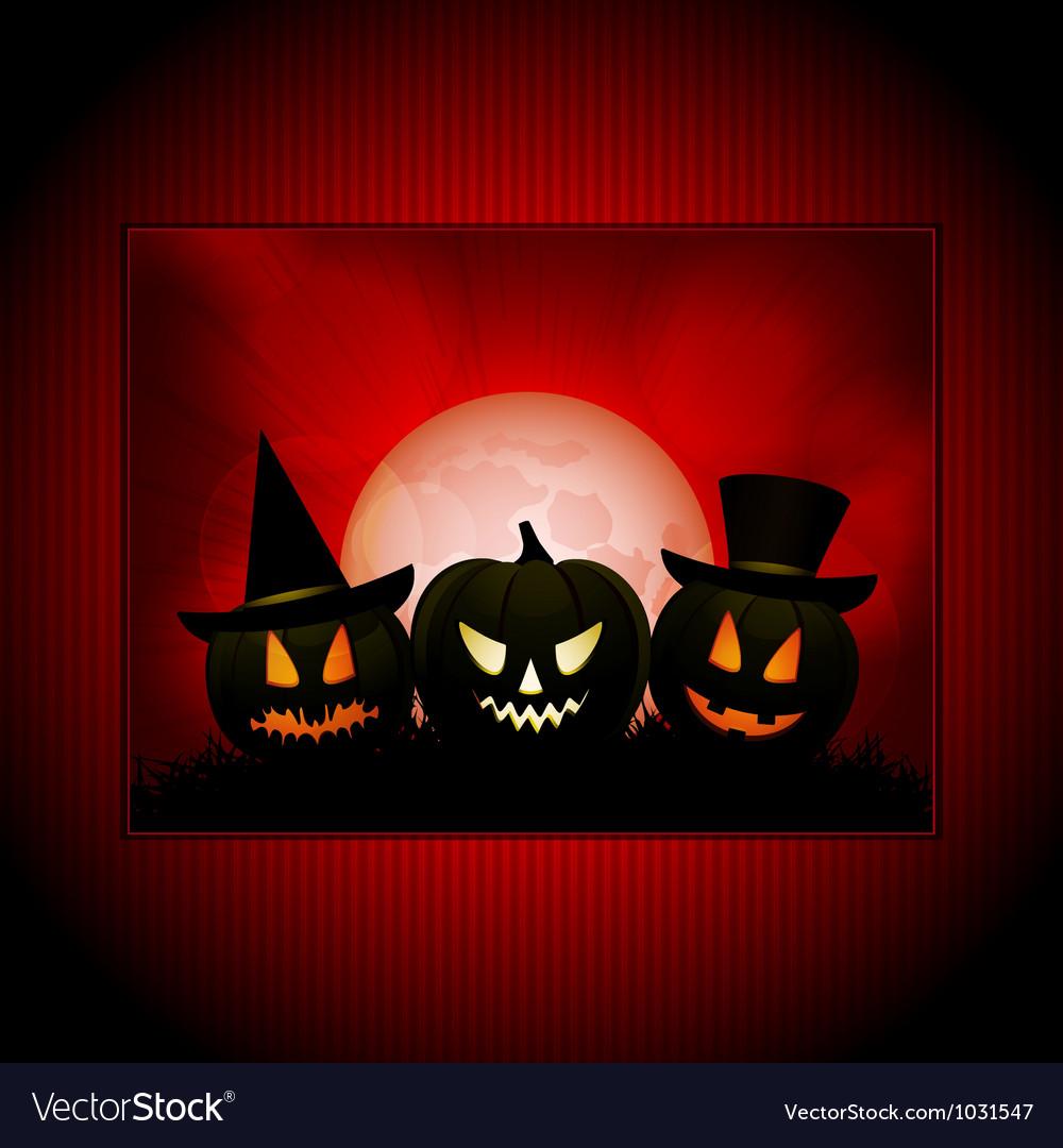 Halloween panel background vector | Price: 1 Credit (USD $1)