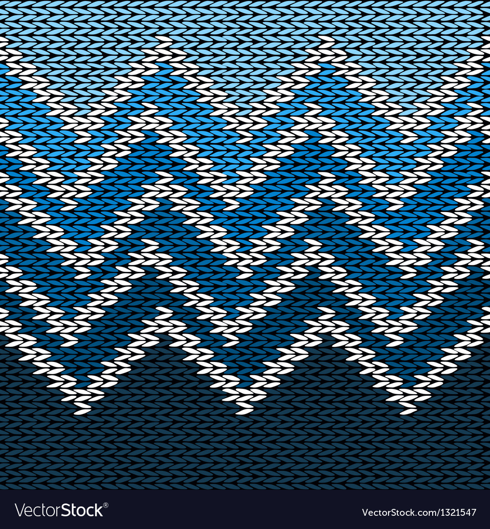 Knitted stylized geometric pattern with wave vector | Price: 1 Credit (USD $1)