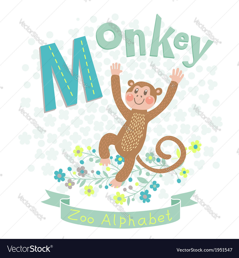 Letter m - monkey vector | Price: 1 Credit (USD $1)