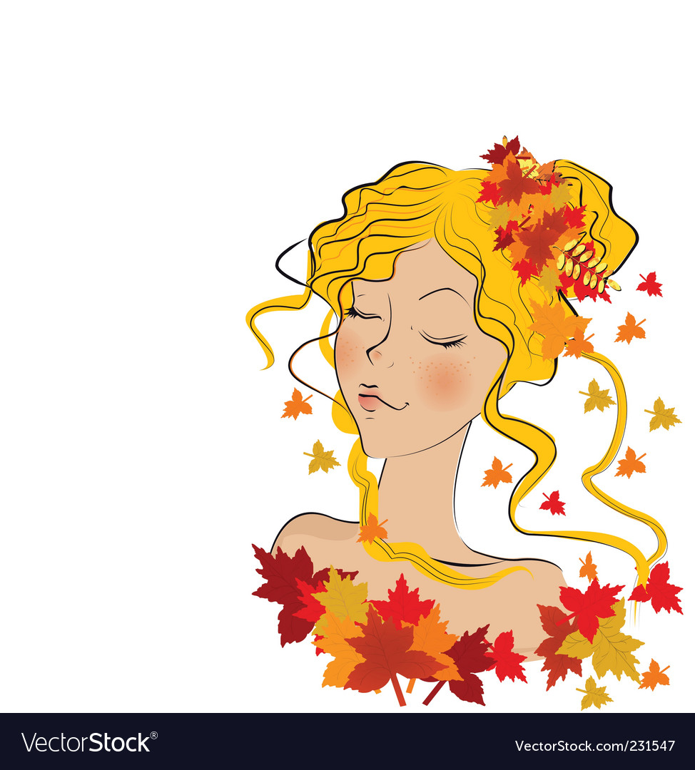 Nature lady vector | Price: 1 Credit (USD $1)
