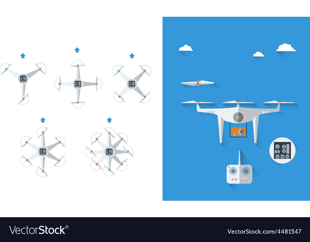 Quadrocopter infographic 01 vector   Price: 1 Credit (USD $1)