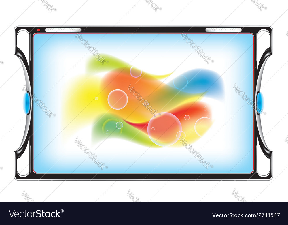 Tablet computer with abstract image vector | Price: 1 Credit (USD $1)