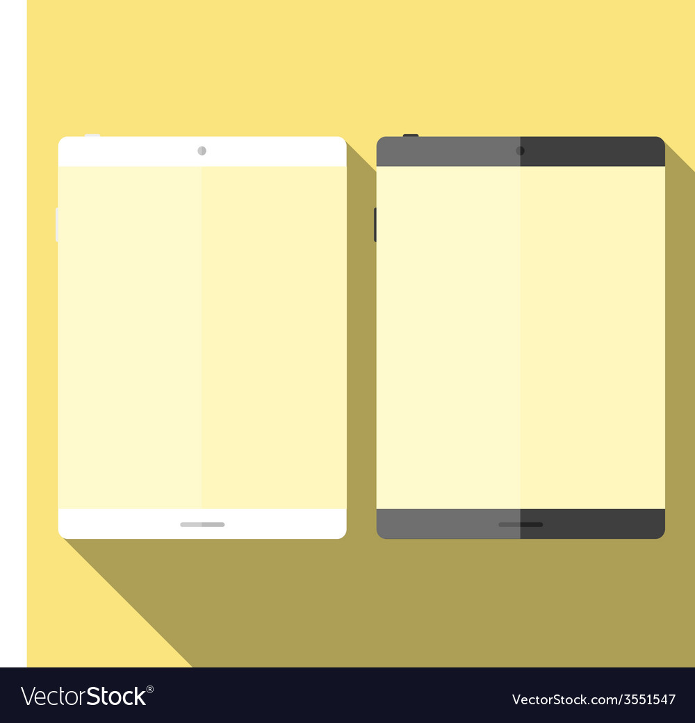Tablet in flat style vector | Price: 1 Credit (USD $1)