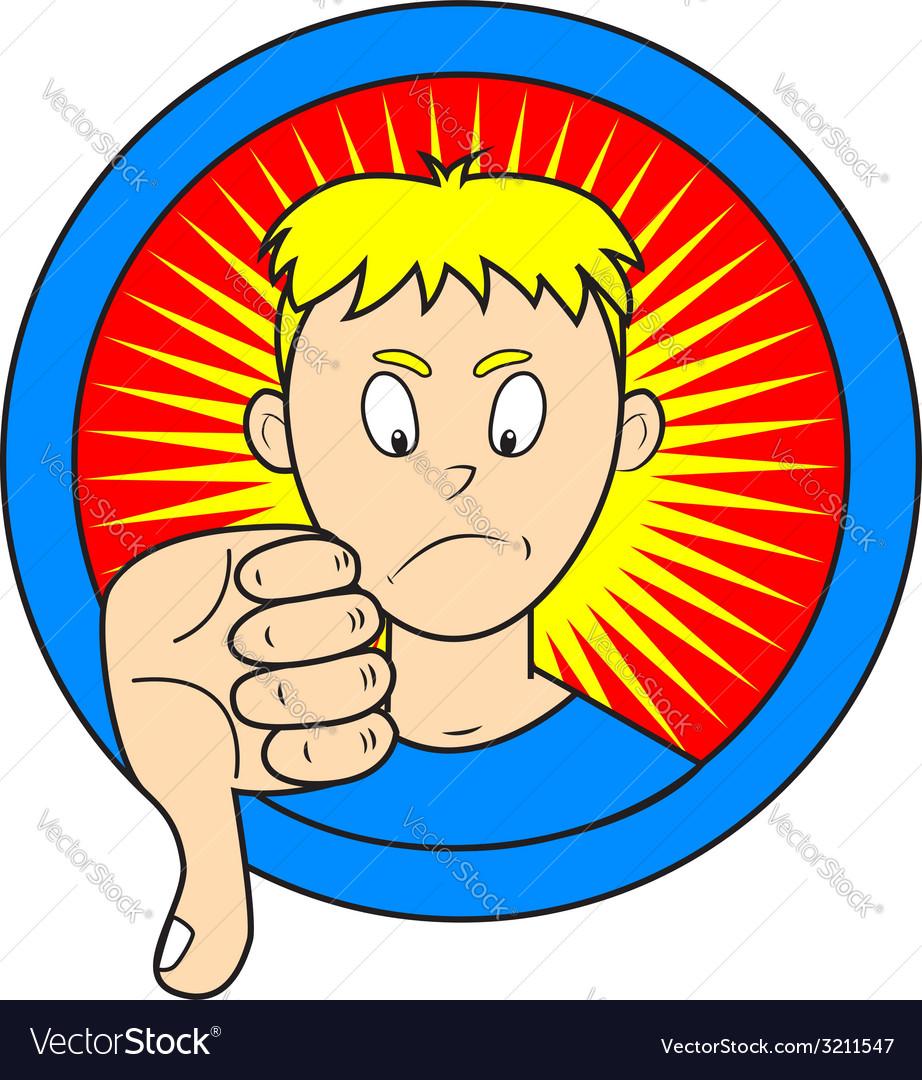 Thumb down vector | Price: 1 Credit (USD $1)