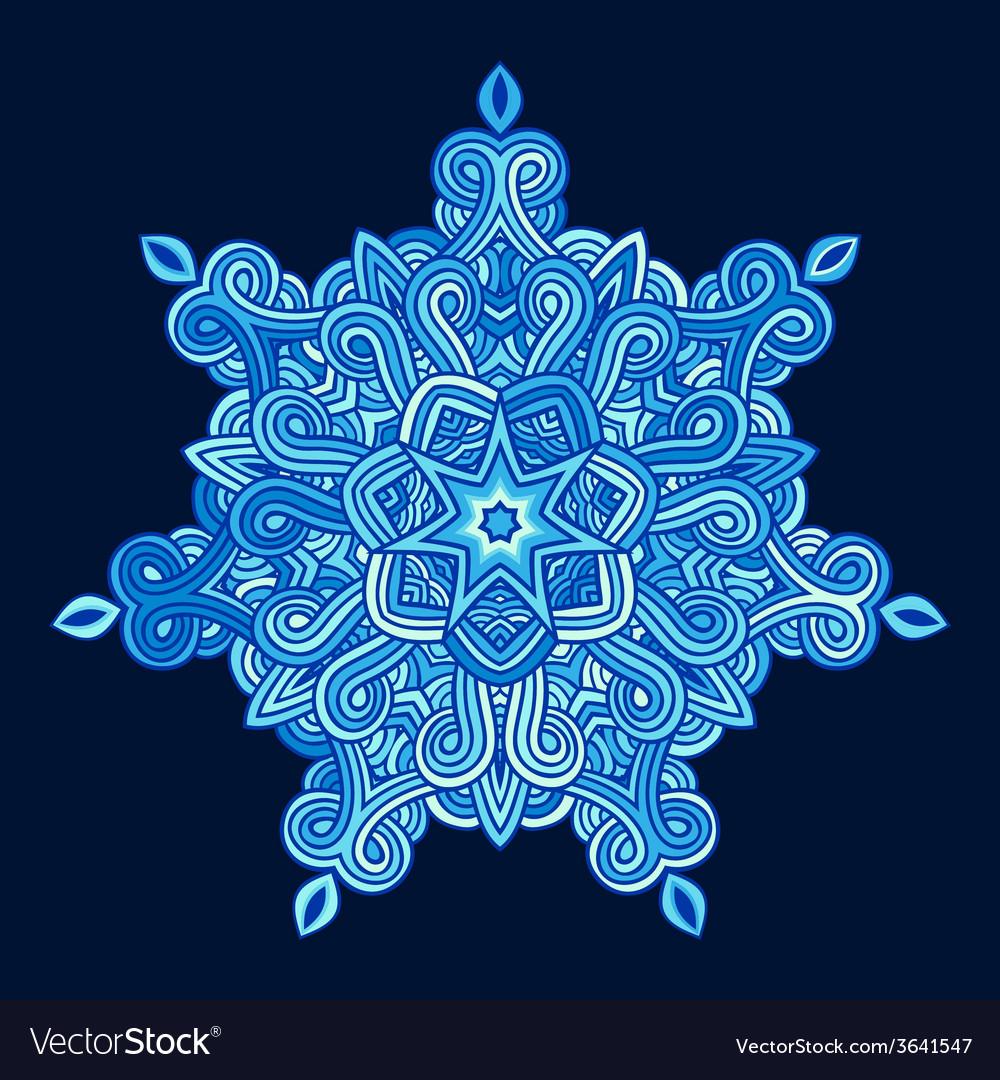 Winter celtic knot pattern card mandala amulet vector