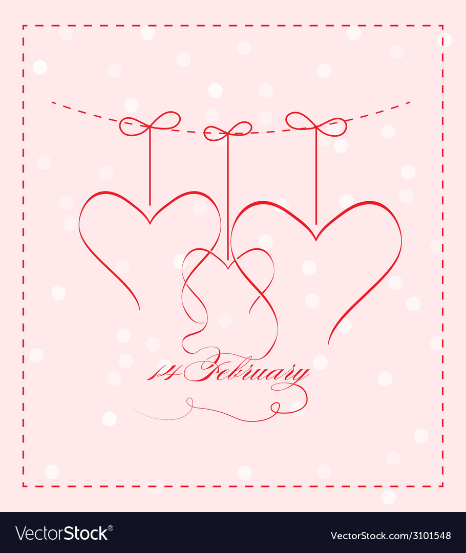 14 feb greating card vector | Price: 1 Credit (USD $1)