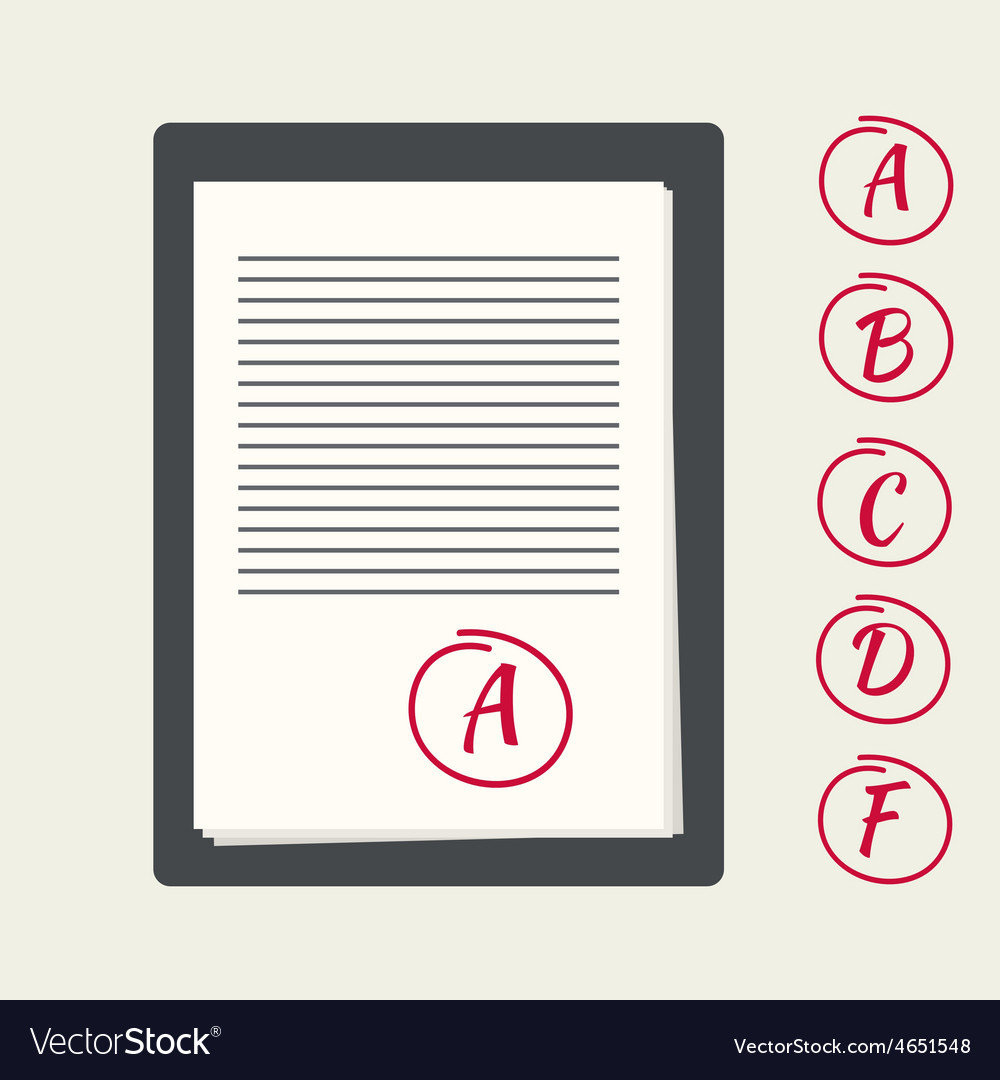 Clipboard with exam papers vector | Price: 1 Credit (USD $1)