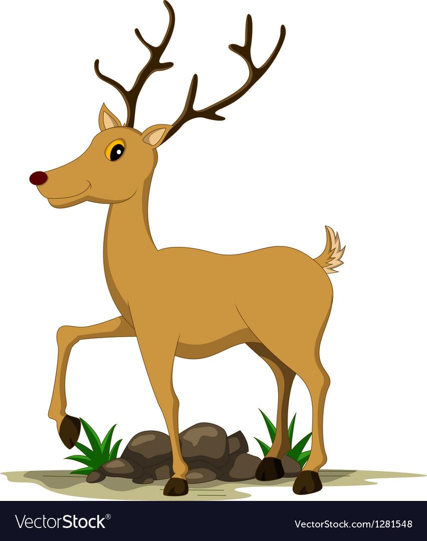 Cute deer cartoon vector | Price: 1 Credit (USD $1)