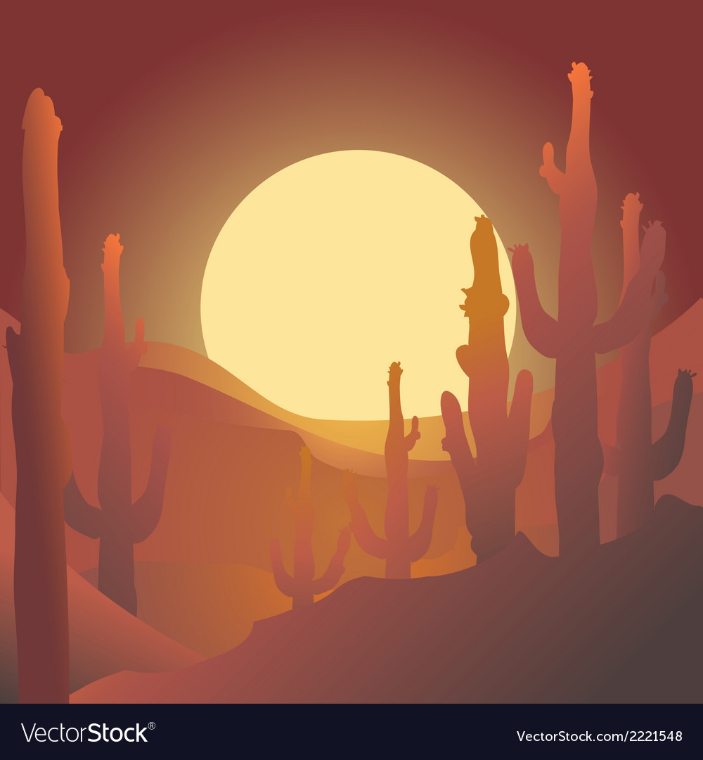 Desert vector | Price: 1 Credit (USD $1)