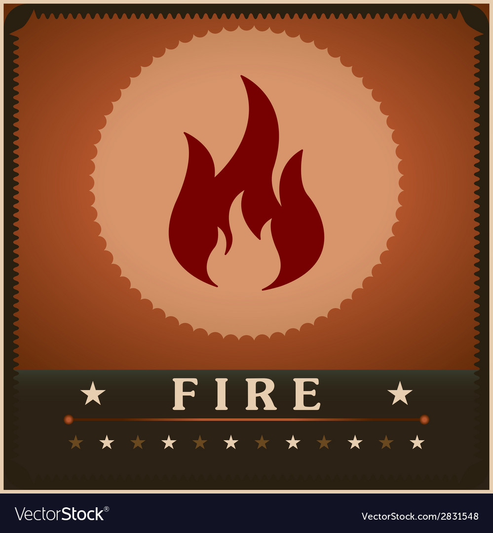 Fire flame poster creative design template vector | Price: 1 Credit (USD $1)