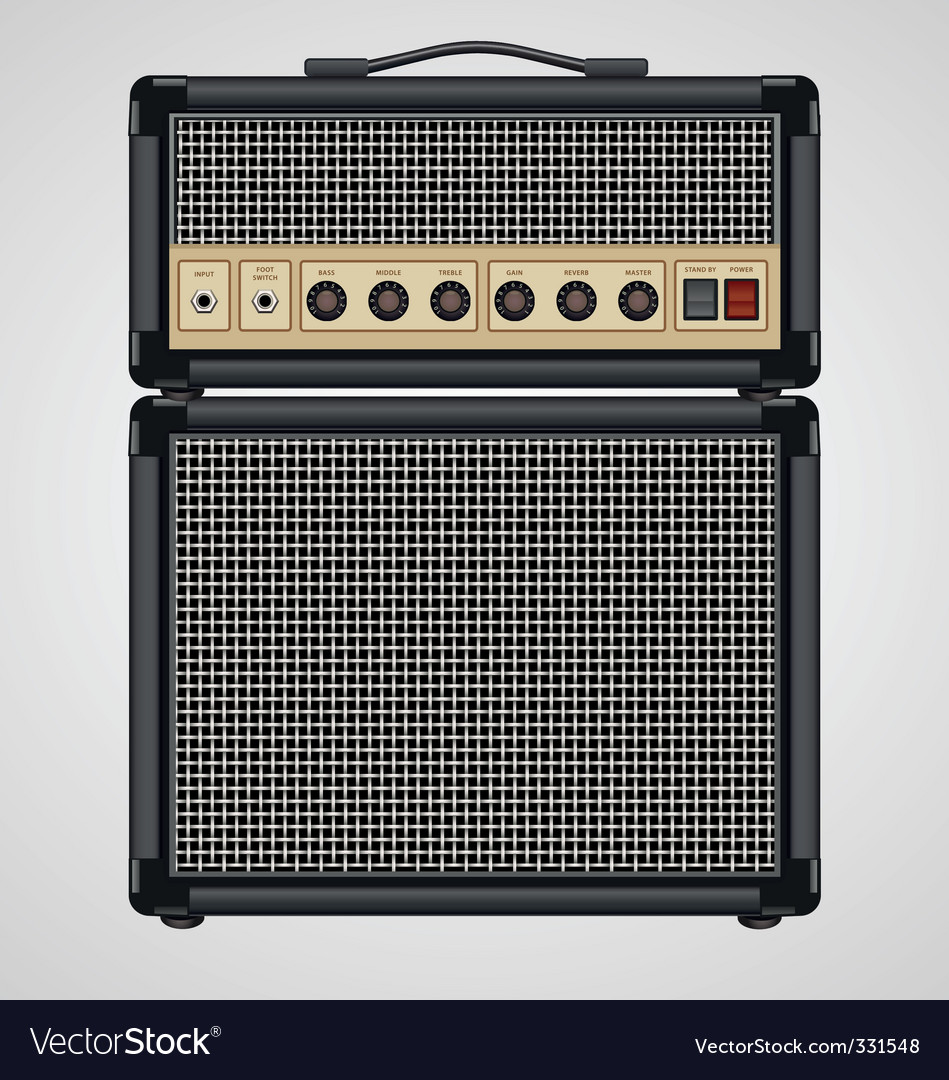 Guitar amplifier vector | Price: 1 Credit (USD $1)