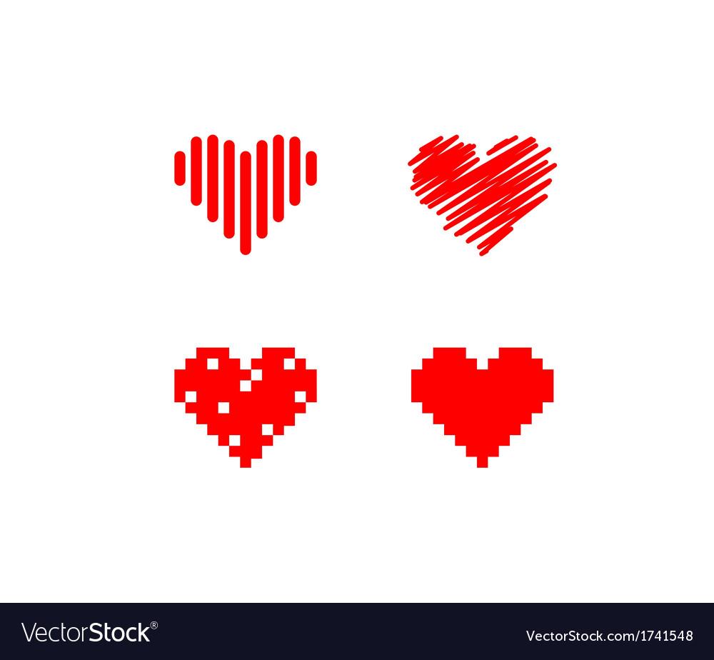 Heart symbols vector | Price: 1 Credit (USD $1)