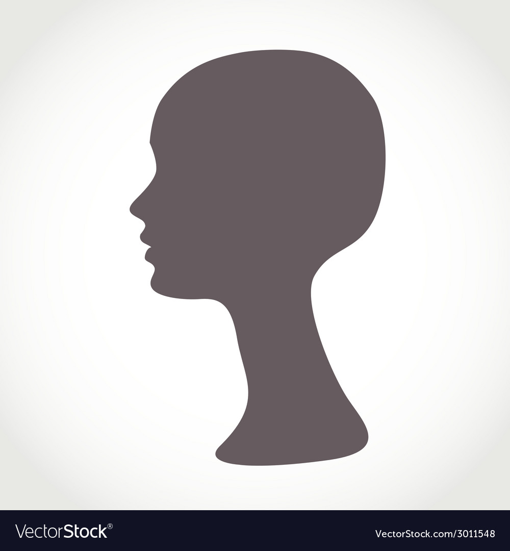 Mannequin female head basis for wig vector | Price: 1 Credit (USD $1)