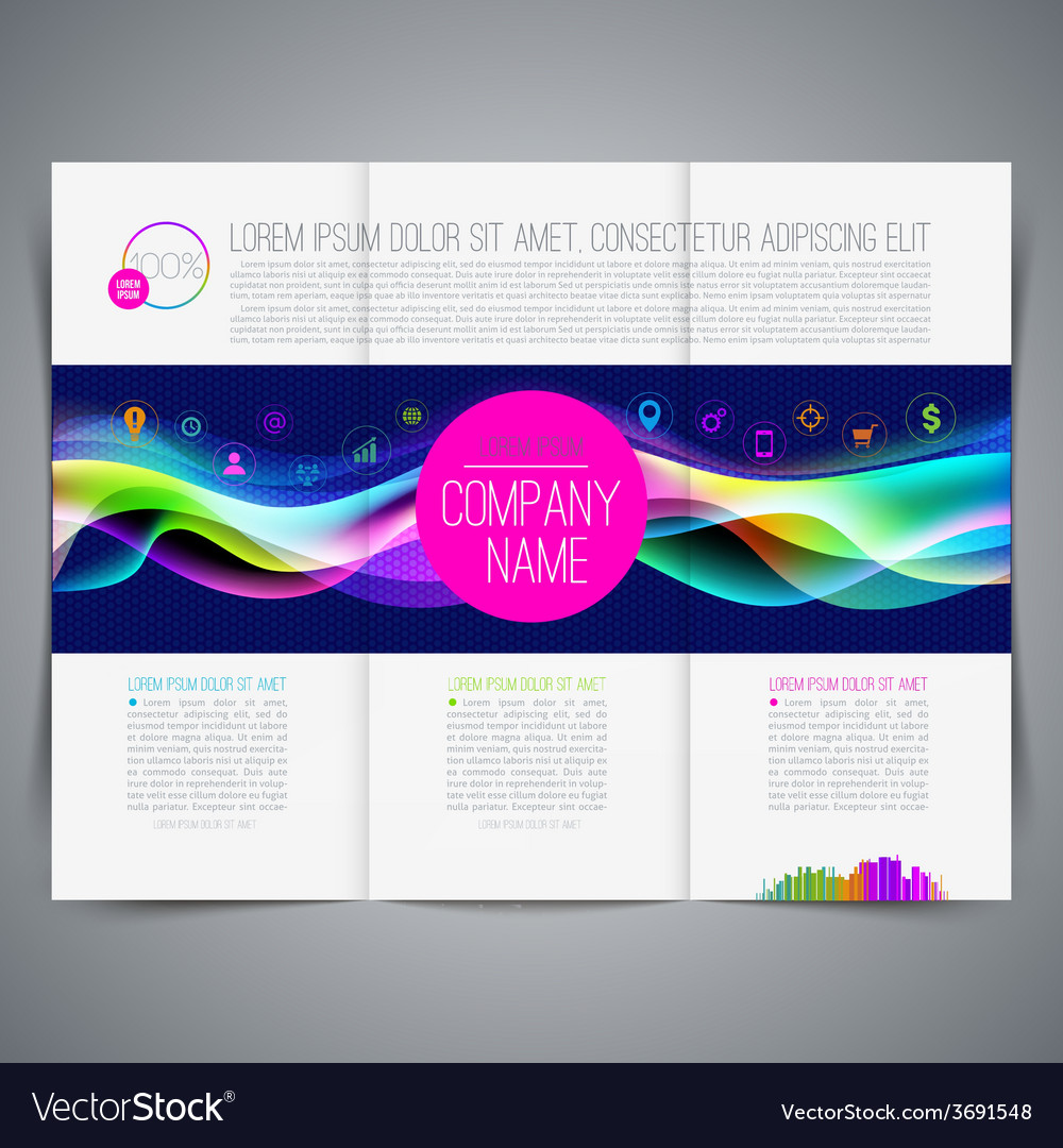 Multicolored template leaflet page design vector | Price: 1 Credit (USD $1)