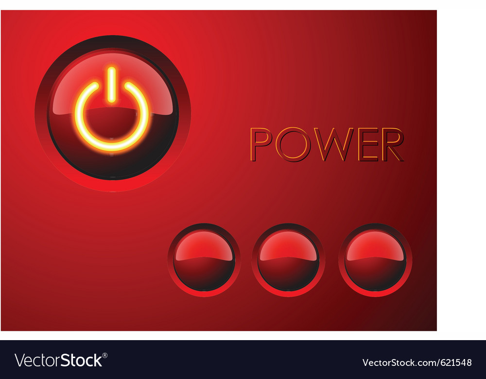 Red power button vector | Price: 1 Credit (USD $1)