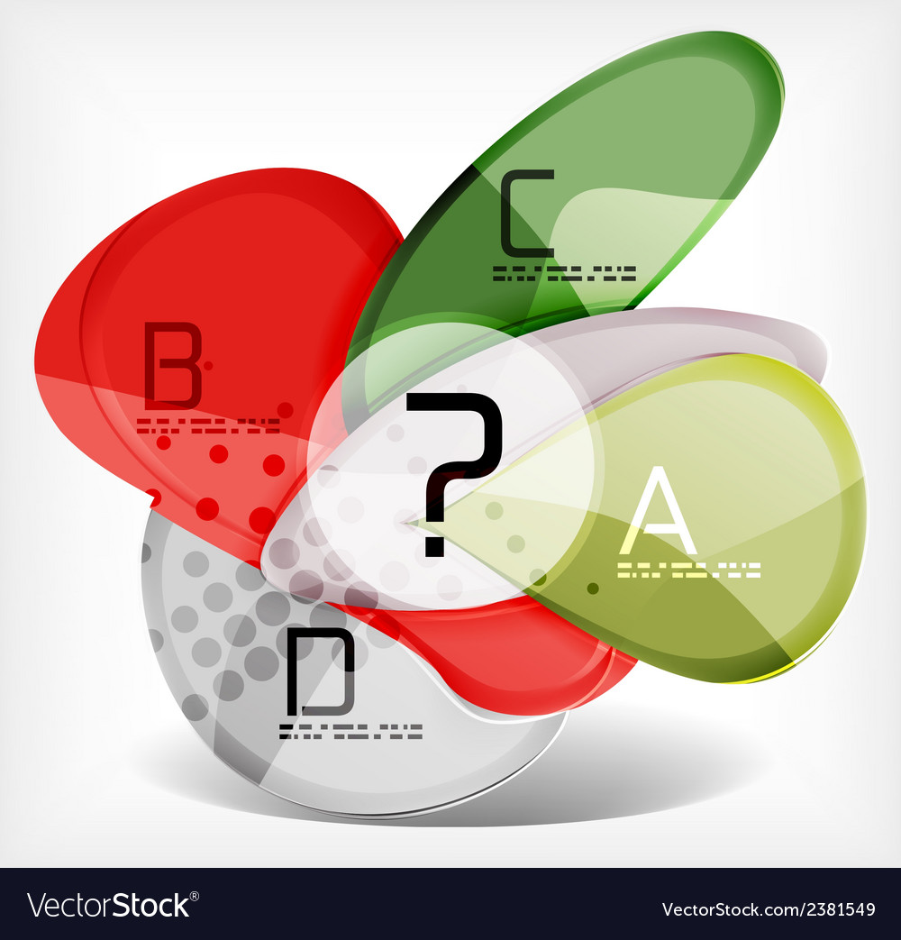 Abstract option infographic - glass round shapes vector | Price: 1 Credit (USD $1)