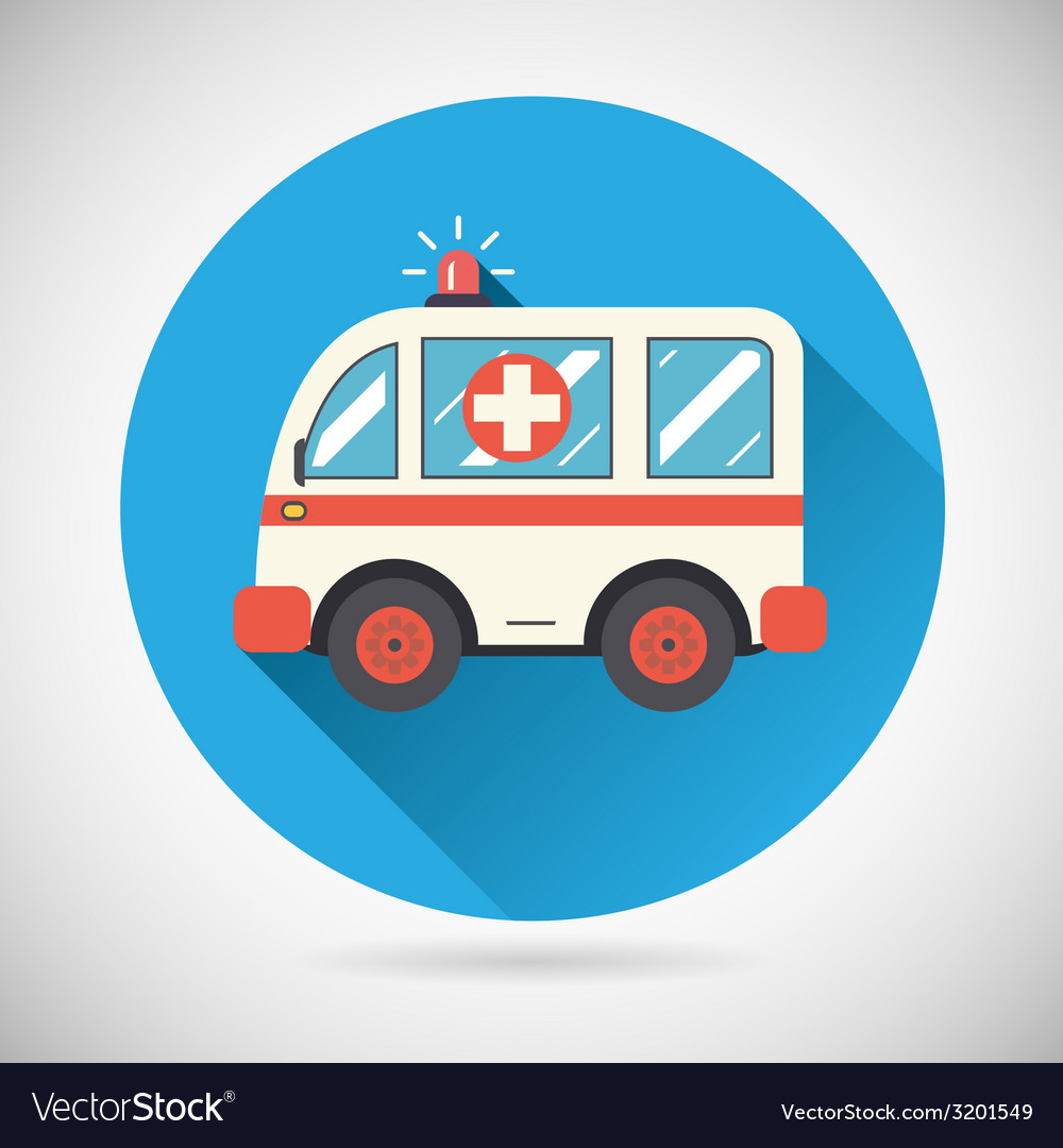 Ambulance car icon health treatment symbol on vector | Price: 1 Credit (USD $1)
