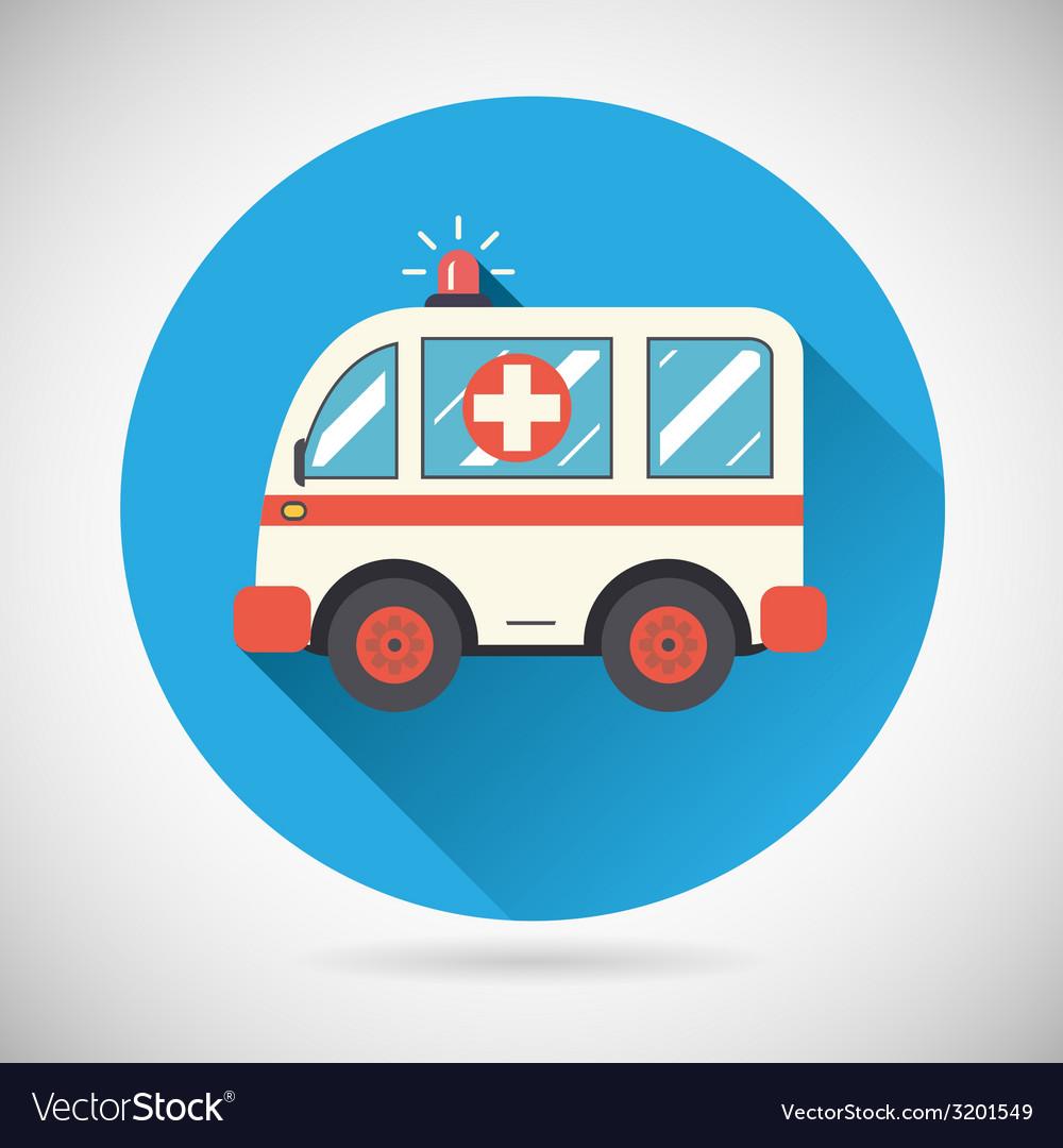 Ambulance car icon health treatment symbol on vector   Price: 1 Credit (USD $1)