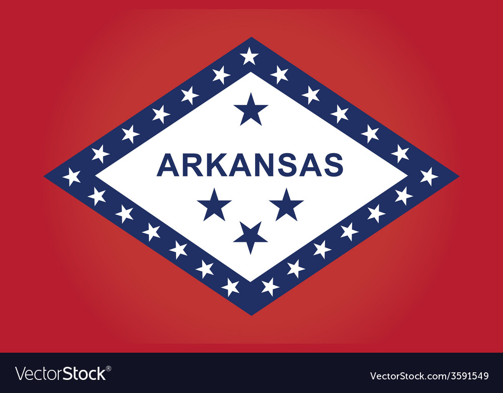 Arkansas flag vector | Price: 1 Credit (USD $1)