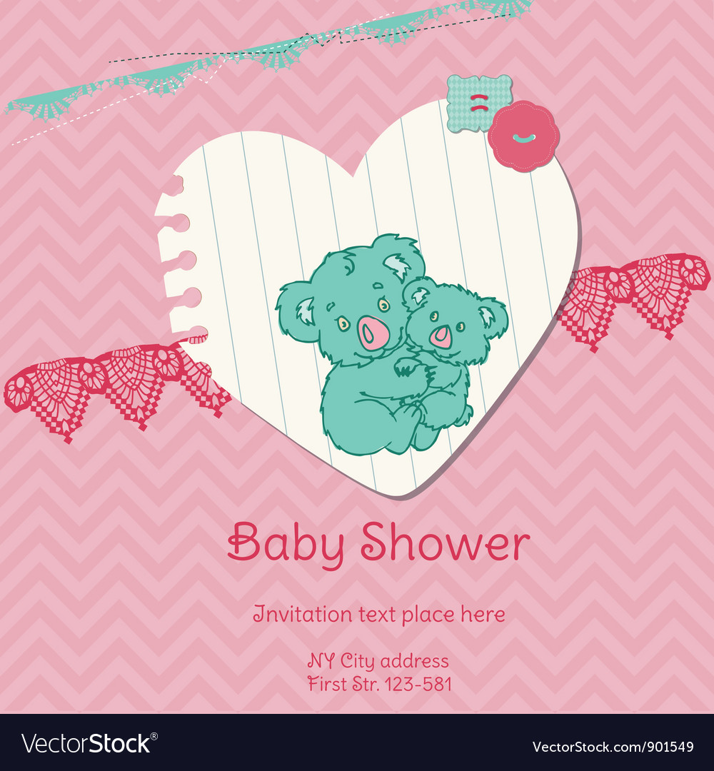 Baby shower card with koala vector | Price: 1 Credit (USD $1)