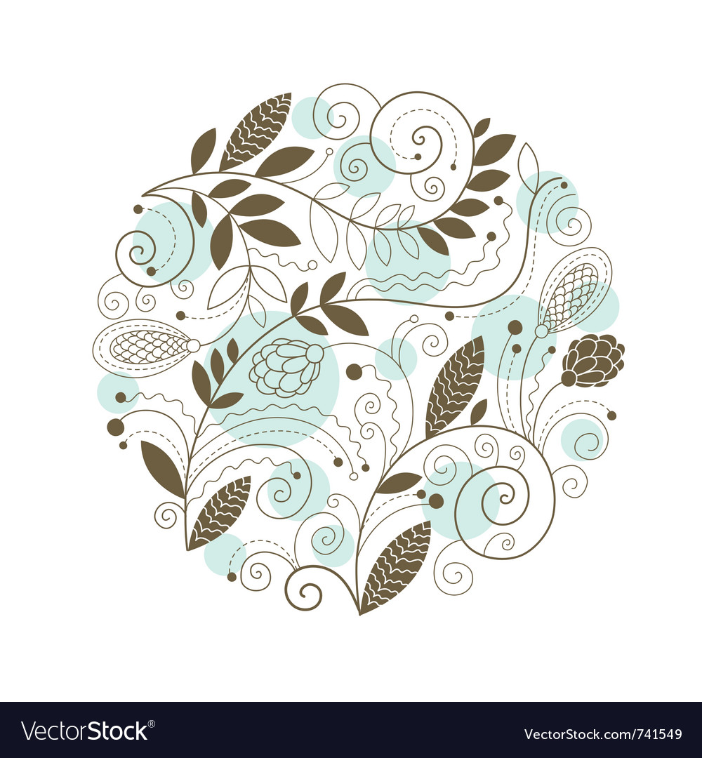 Floral composition vector | Price: 1 Credit (USD $1)