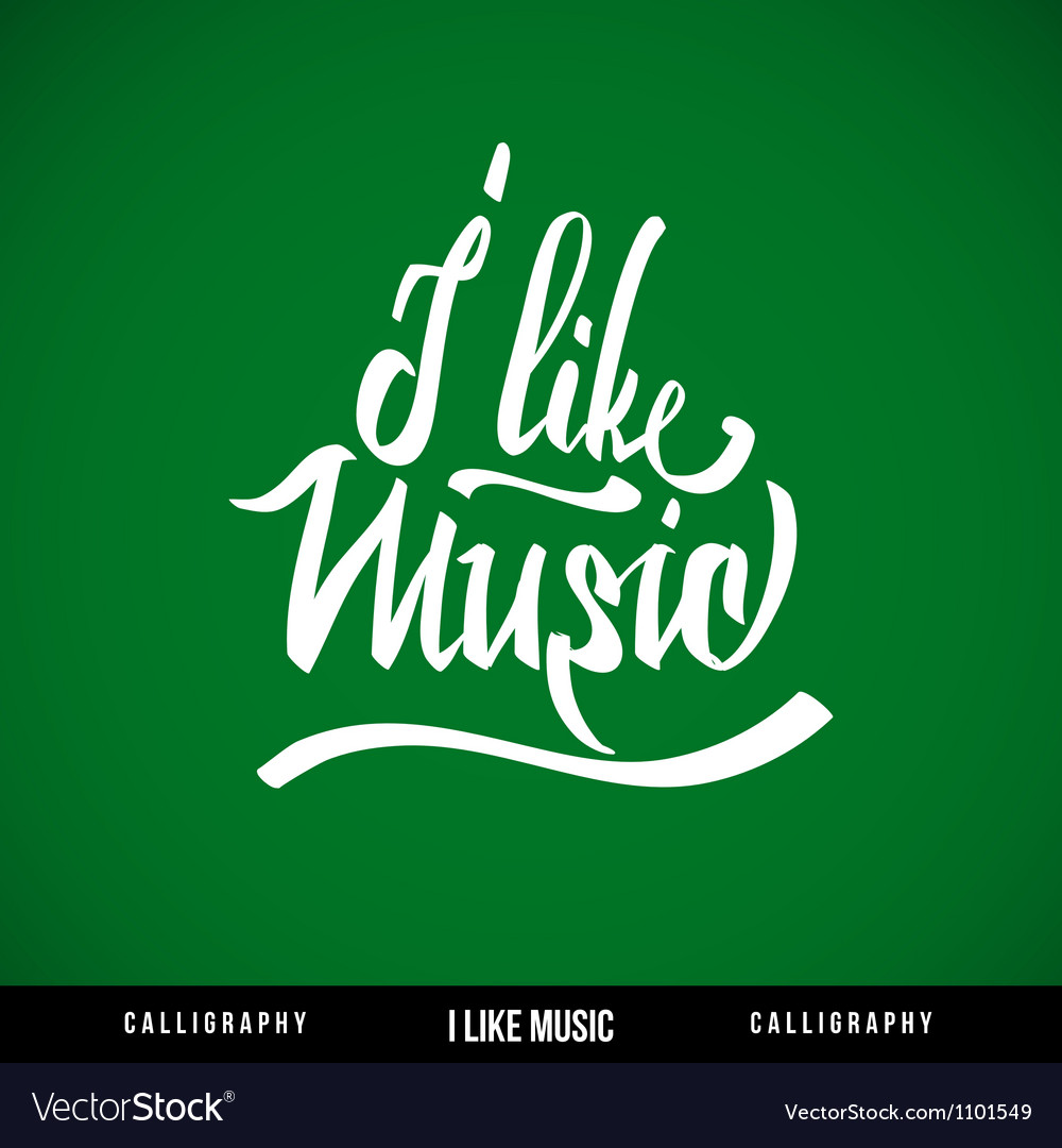 Music hand lettering - handmade calligraphy vector | Price: 1 Credit (USD $1)