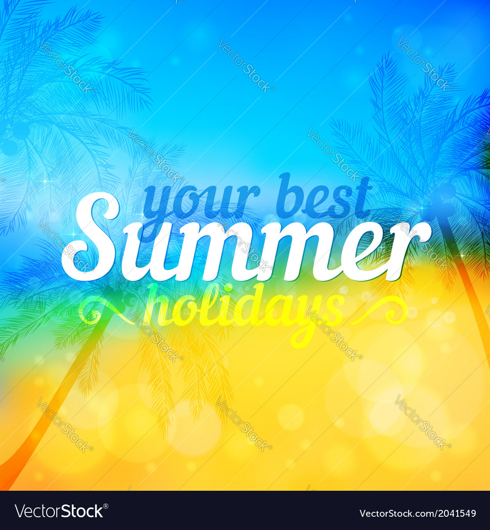 Sunny summer backdrop with palms vector   Price: 1 Credit (USD $1)
