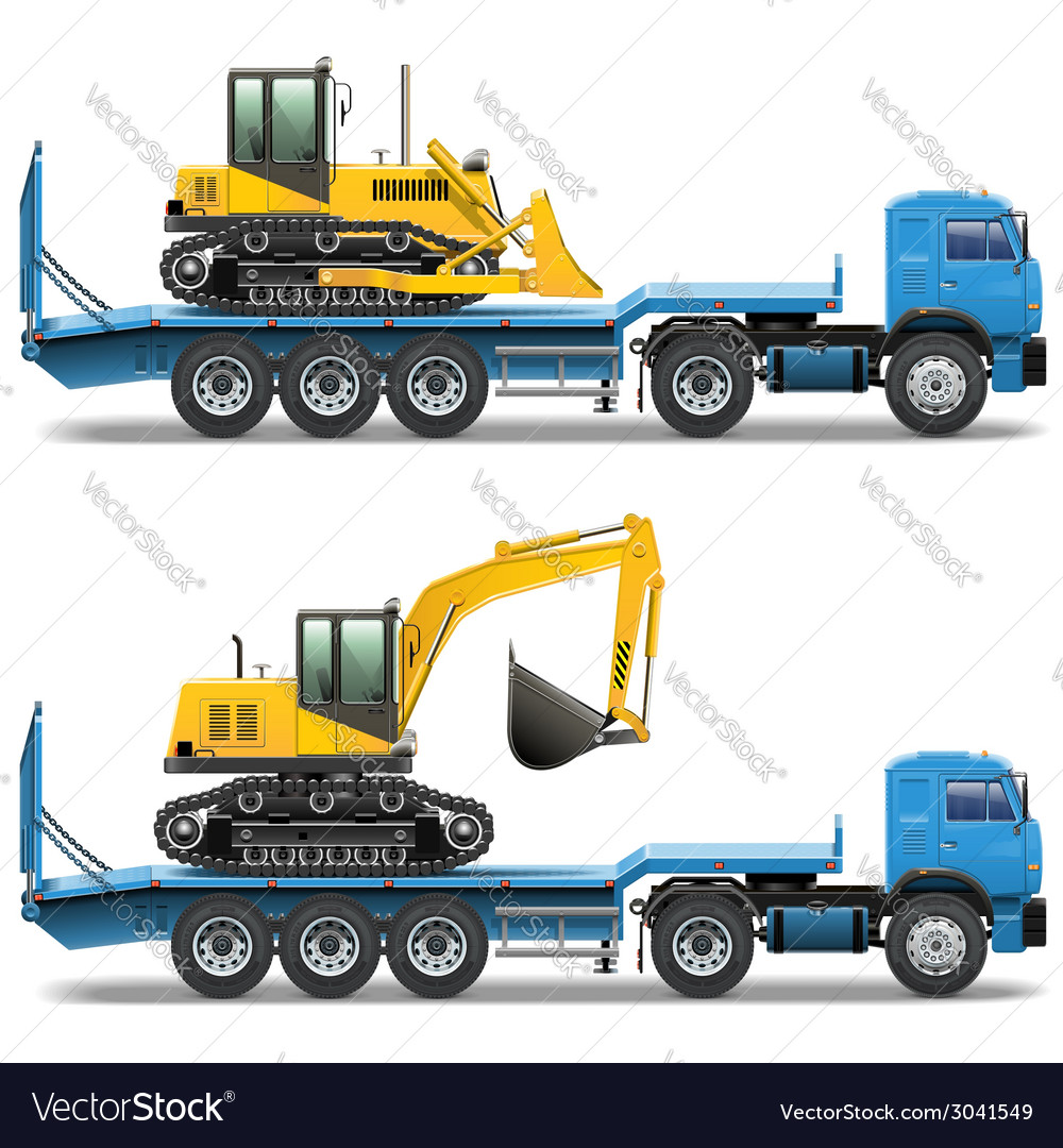 Trailer with tractor vector | Price: 3 Credit (USD $3)